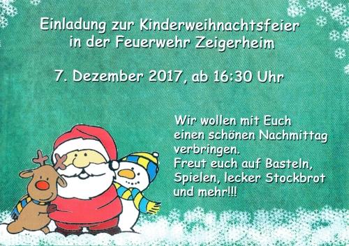 Kinderweihnachtsfeier 2017